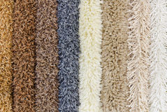Various carpet samples stock image