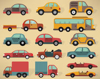 Various cars collection Royalty Free Stock Photos