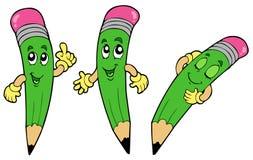 Various Cartoon Pencils Stock Image