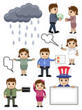 Various Cartoon Vector Set Royalty Free Stock Image