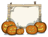 Various carved pumpkins Royalty Free Stock Image