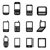 Various cell phones Royalty Free Stock Images