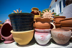 Various ceramic pots and other objects Royalty Free Stock Images