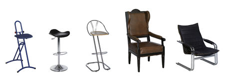 Various chairs Royalty Free Stock Images