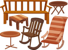 Various chairs and tables Stock Image