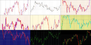 Various charts Royalty Free Stock Image