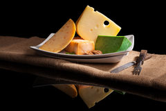 Various cheese sorts. Royalty Free Stock Images