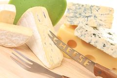 Various cheeses. Stock Images