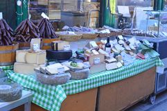 Cheese for sale Naschmarkt Vienna Royalty Free Stock Images