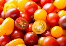Various cherry tomatoes Stock Photos