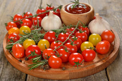 Various cherry tomatoes Stock Image