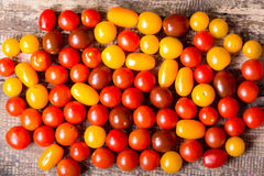 Various cherry tomatoes Royalty Free Stock Images