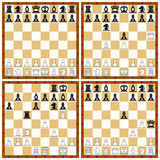 Chess position set Royalty Free Stock Images