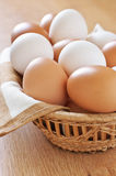 Various chicken eggs Royalty Free Stock Photo