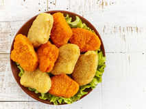 Various chicken nuggets Stock Photography