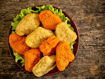 Various chicken nuggets Stock Images