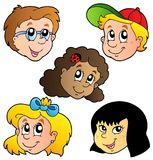 Various children faces collection Stock Images