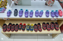 Various Children Shoes for Sale. Shoes for sale in a shop at Emporium Mall, Lahore, Pakistan Stock Photography
