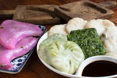 Chinese chive dumplings traditional food. royalty free stock images