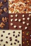 Various chocolate bar Stock Photos