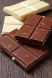 Various chocolate bar Royalty Free Stock Photography