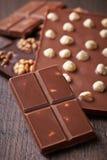 Various chocolate bar Royalty Free Stock Photos