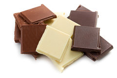 Various chocolate bars Stock Photography