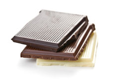 Various chocolate bars Royalty Free Stock Photos