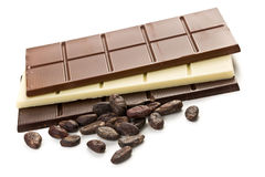 Various chocolate bars Stock Images