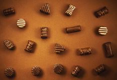 Various Chocolate Candies Stock Images
