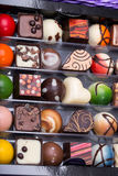 Various chocolate pralines Royalty Free Stock Photography