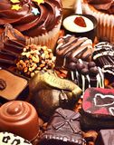 Various chocolate sweets and muffins Stock Photography