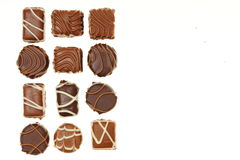 Various chocolates candies in a box Stock Photo
