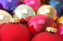Various Christmas balls Stock Image