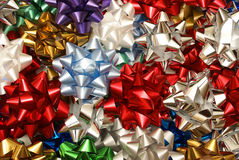 Various Christmas Bows Stock Image
