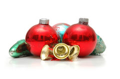 Various christmas decorations. Isolated on white Royalty Free Stock Images