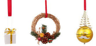 Various Christmas Decorations Royalty Free Stock Images
