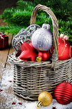 Various Christmas decorations Royalty Free Stock Photography