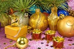 Various Christmas decorations closeup Stock Image