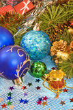 Various Christmas decorations Stock Image