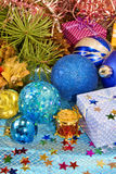 Various Christmas decorations Royalty Free Stock Image