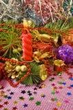 Various Christmas decorations Stock Photos
