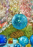 Various Christmas decorations Stock Photography