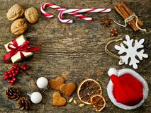 Various Christmas decorations Royalty Free Stock Photo