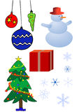 Various Christmas design elements Royalty Free Stock Image