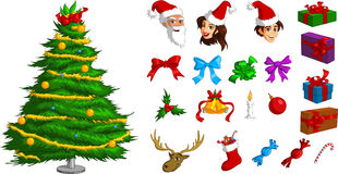 Various Christmas ornaments Royalty Free Stock Photography