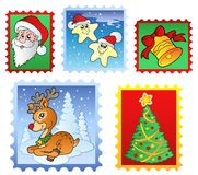 Various Christmas post stamps 1. Illustration Stock Photos