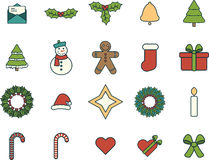 Various christmas  signs. On white background Stock Photography