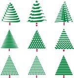 Various Christmas Tree Designs Stock Image