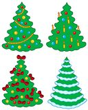 Various Christmas trees Stock Image